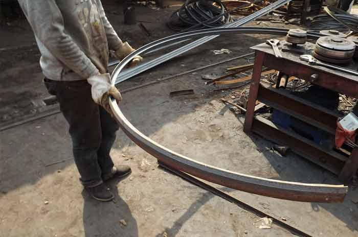 铁木电缆轴盘制作过程